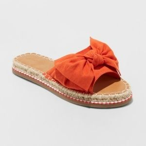 Universal Thread Espadrille Knotted Bow Sandals